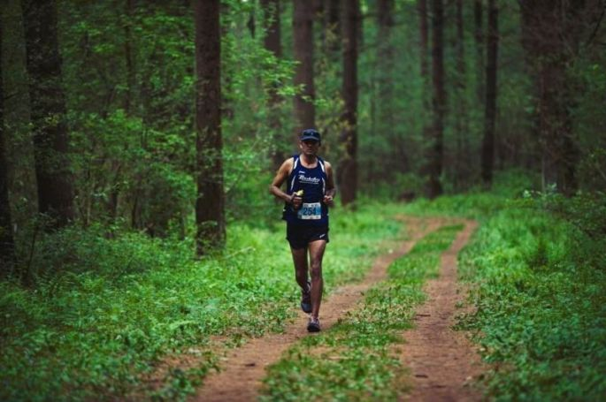 Vikash-malik-running-in-nordic-loop-of kettle-moraine-state-park